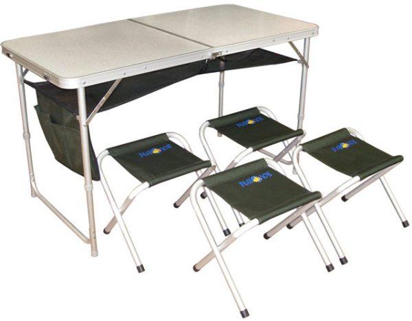 Набор складной мебели (стол+4 табурета) РЫБОЛОВ