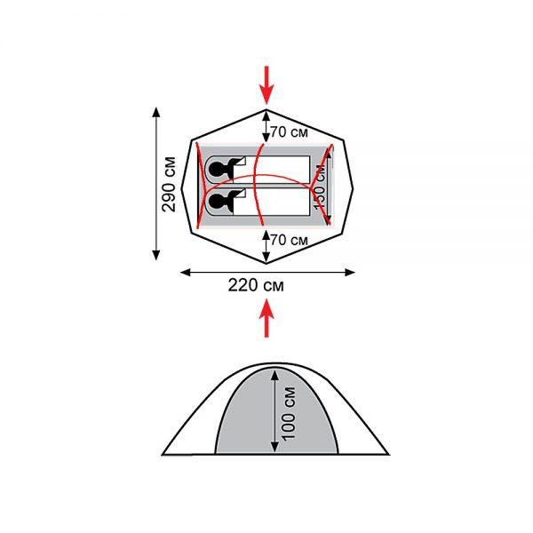 Двухместная палатка WILD TRAMP
