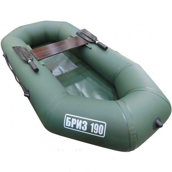 Лодка Бриз 190 (гребки + жесткое сиденье) зеленый