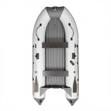 Лодка Алтай А360 (белый/серый, надувное дно)