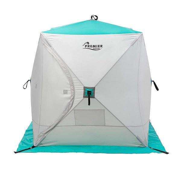 Палатка зимняя Куб 1,8х1,8 biruza/gray PREMIER (PR-ISC-180BG)