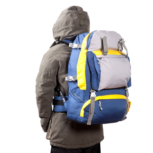 Рюкзак туристический КАЙТУР TAIF-синий-желтый