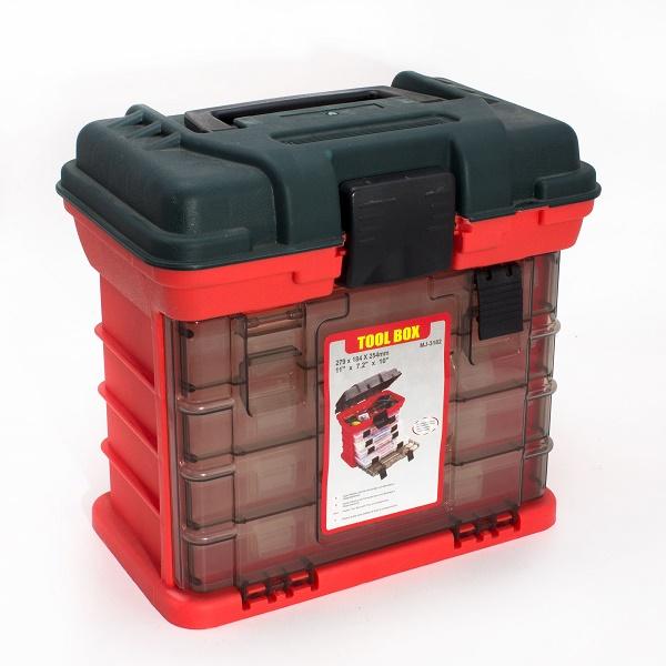 """Ящик рыбацкий """"Tool Box"""" 279X184X254 (4 вынимающихся бокса) MJ-3182"""