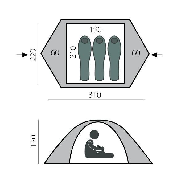 Быстросборная палатка BULLET-3 BTrace