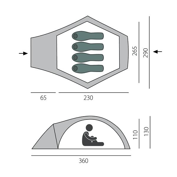 Быстросборная палатка OMEGA-4 BTrace