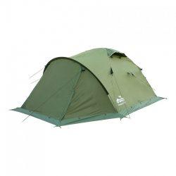 Трехместная палатка MOUNTAIN 3 v.2 TRAMP зеленая