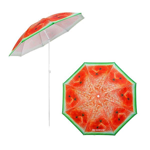 Зонт пляжный d 1,8м с наклоном АРБУЗ NISUS