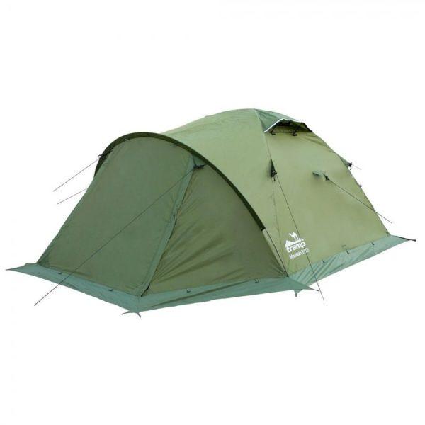 Двухместная палатка MOUNTAIN 2+ v.2 TRAMP /зеленая/