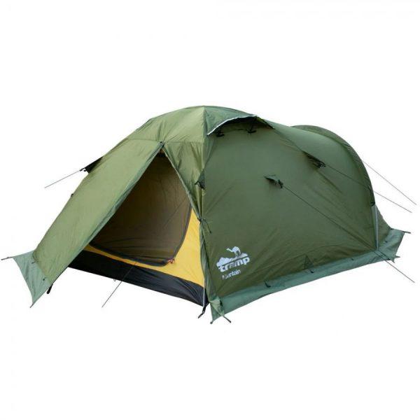 Четырехместная палатка MOUNTAIN 4 v.2 TRAMP /зеленая/