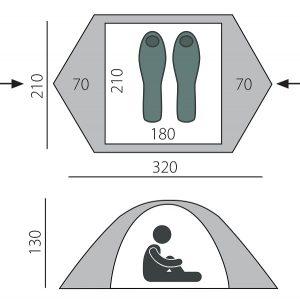 Трехместная палатка MALM 3 BTrace