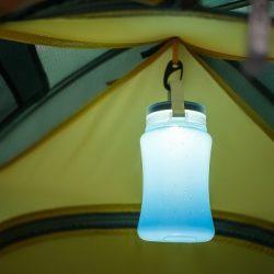 Фонарь-бутылка с солнечной батареей и USB Helios