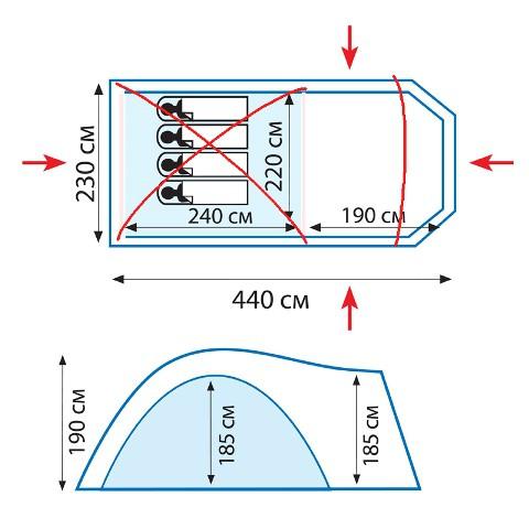 Комплект дуг для палатки ANACONDA TRAMP