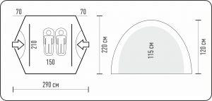 Палатка двухместная SLIPER 2 CAMO Talberg