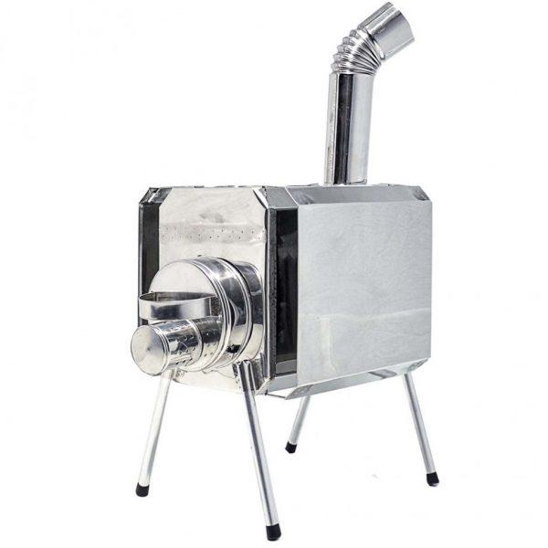 Печка ТУРИСТ с искрогасителем и экраном 15 литров